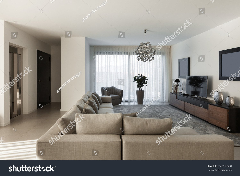 Comfortable Living Room Apartment Interior Modern Apartment fortable Living Room Stock