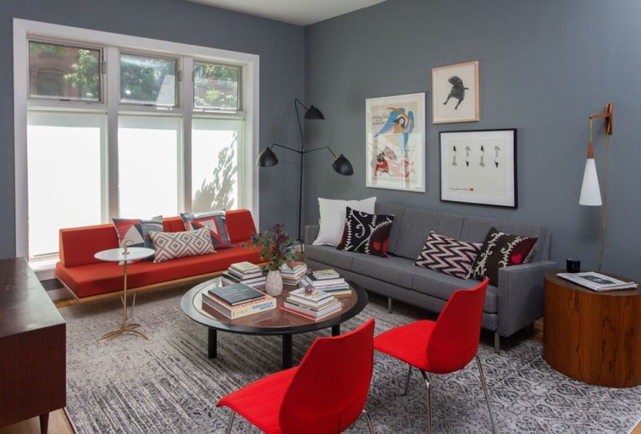 Comfortable Living Room Apartment Living Room and Bedroom Design In Retro Style Of A Two
