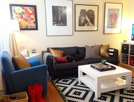 """Comfortable Living Room Apartment the """"blank & Boring to Cheery & fortable"""" Living Room"""