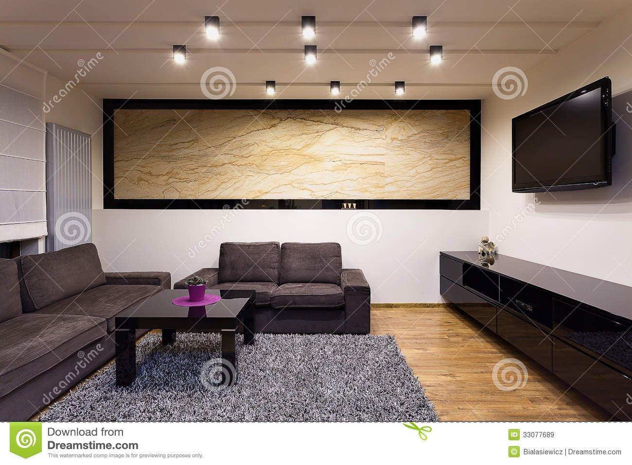 Comfortable Living Room Apartment Urban Apartment fortable Living Room Stock Image