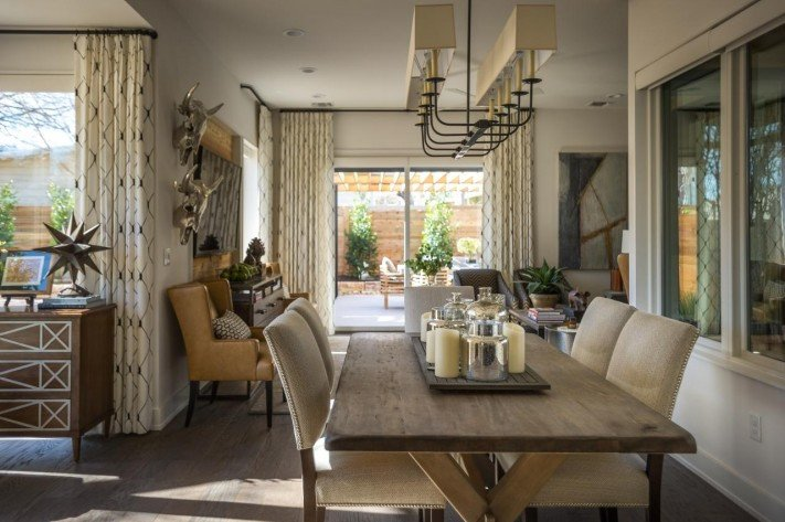 Comfortable Living Room Dining Room Hgtv Smart Home 2015