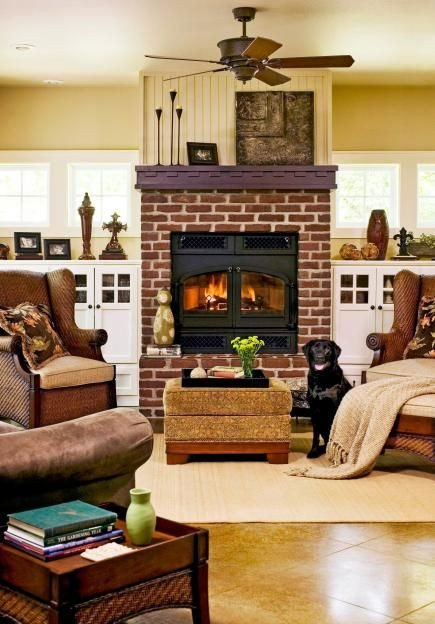 Comfortable Living Room Fireplace 15 fortable Family Rooms Decorating