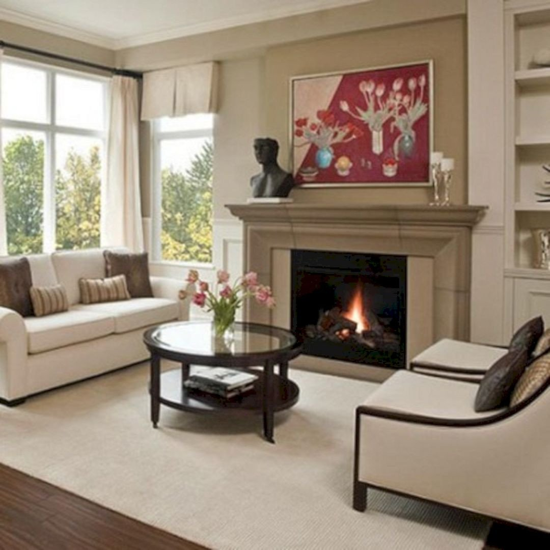 Comfortable Living Room Fireplace 35 Awesome Living Room Fireplace Decoration Ideas for