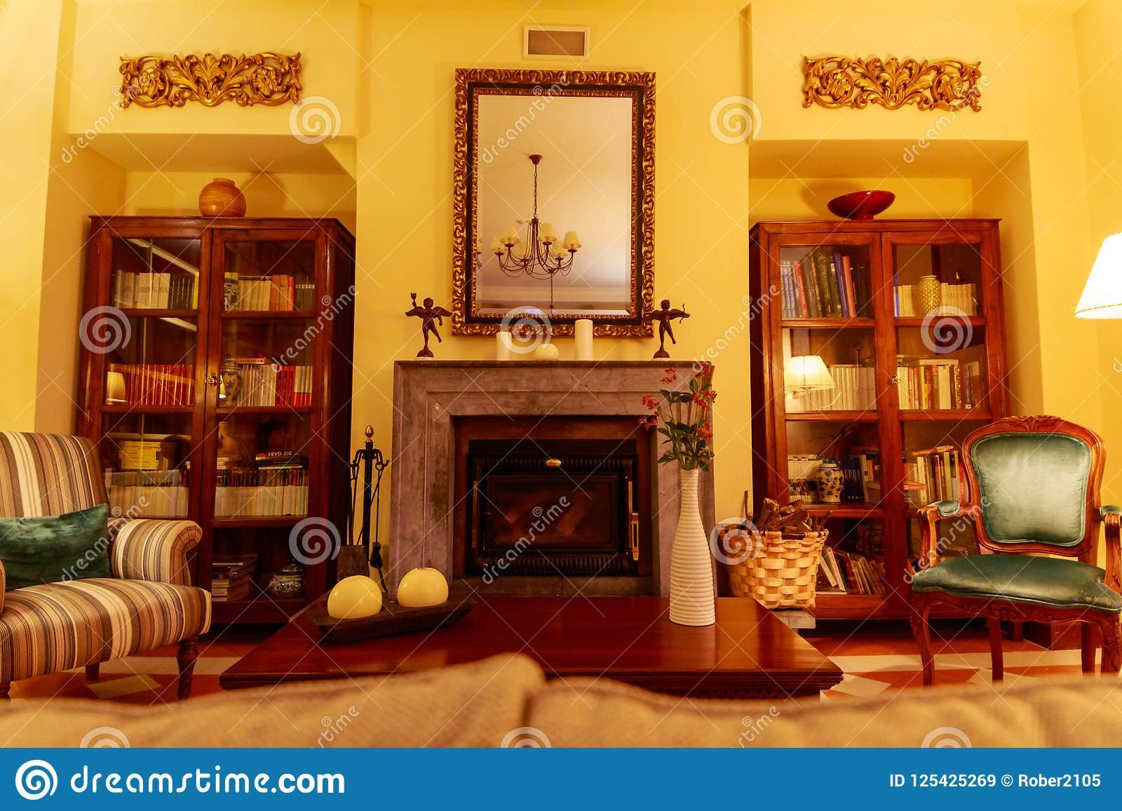Comfortable Living Room Fireplace Beautiful and fortable Living Room with A Central