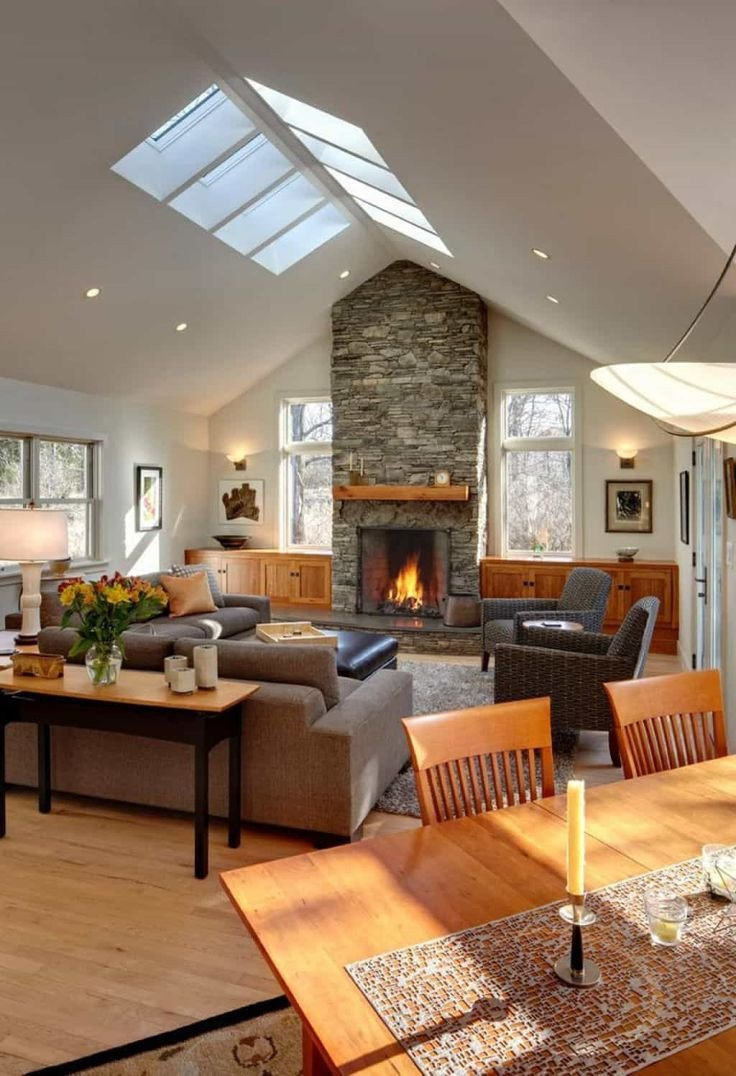 Comfortable Living Room Fireplace fortable Living Room Designed with Stone Fireplace and