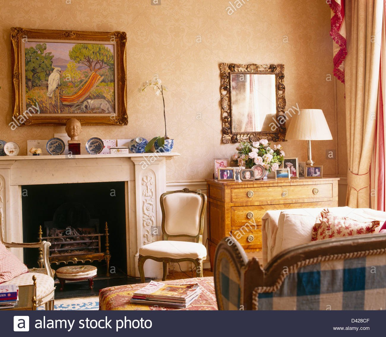 Comfortable Living Room Fireplace Painting Above Fireplace In fortable Living Room with