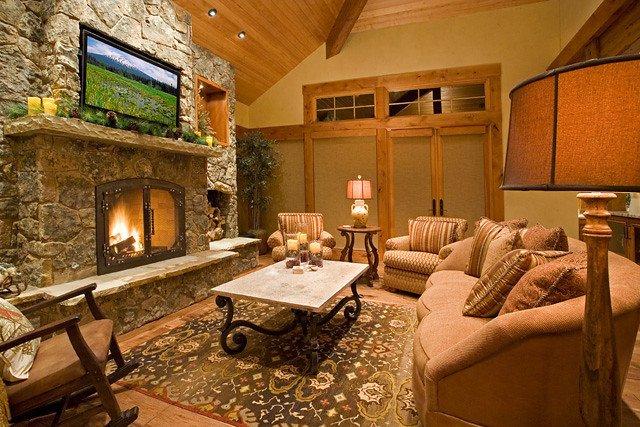 Comfortable Living Room Fireplace Steve Bennett Builders Interior Photo fortable Livin