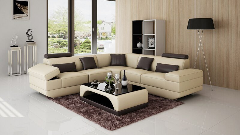 Comfortable Living Room Furniture New Design Large fortable Fabric sofa Set Living Room