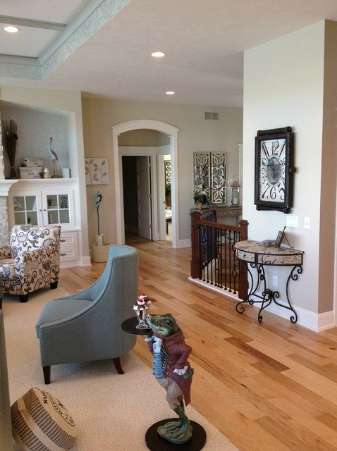 Comfortable Living Room Hickory Floor Domestic Flooring Hickory Eclectic Living Room