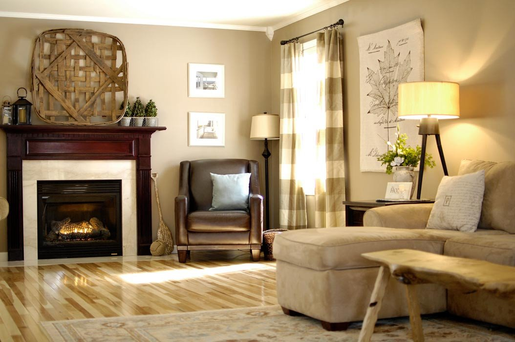 Comfortable Living Room Hickory Floor Hickory Floor Reveal