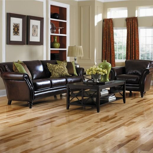 Comfortable Living Room Hickory Floor Hickory Flooring In Kitchen