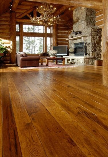 Comfortable Living Room Hickory Floor Hickory Flooring with A Gingerbread Stain
