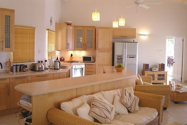 Comfortable Living Room Kitchen Konyha A Nappaliban – Nappali A Konyhában