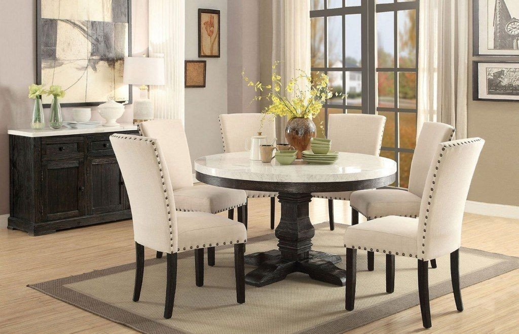 Comfortable Living Room Kitchen Nolan Round Dining Room Set In 2019