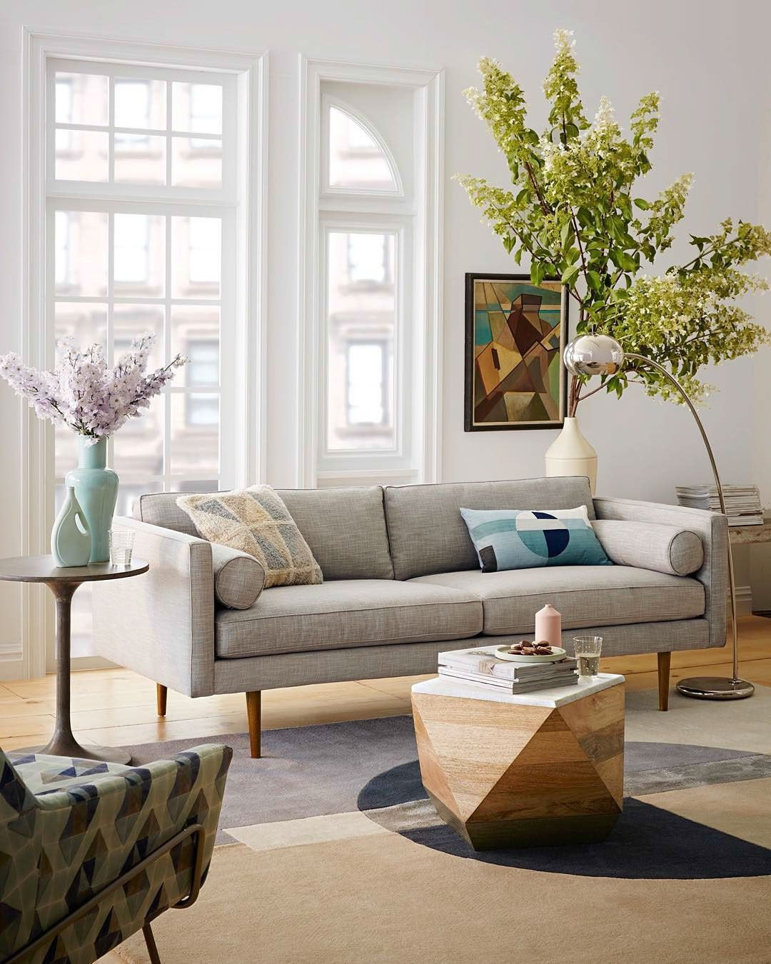 Comfortable Living Room Mid Century Embrace the Clean Lines and fortable Colors Of West Elm