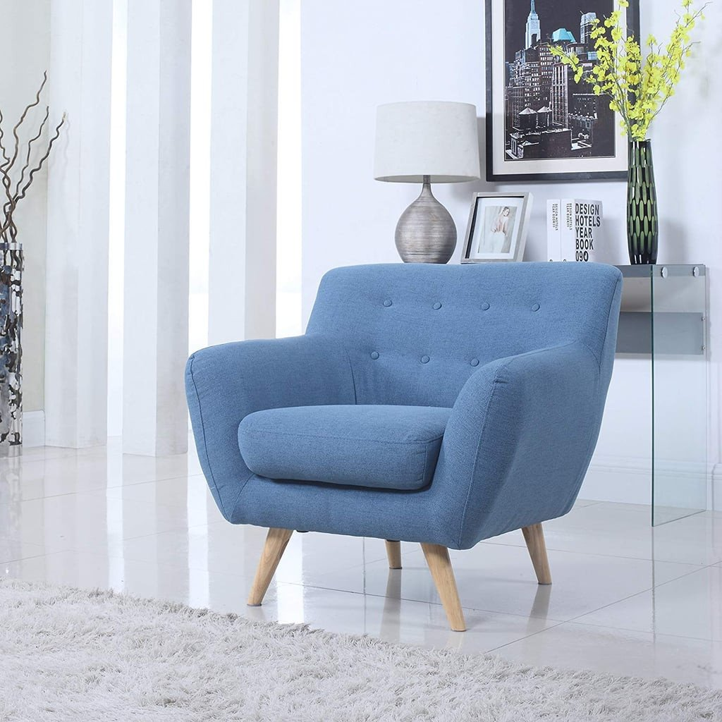 Comfortable Living Room Mid Century Mid Century Modern Tufted button Living Room Accent Chair
