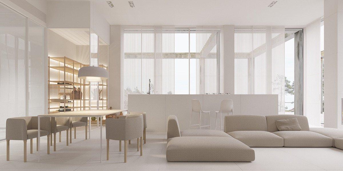 Comfortable Living Room Minimalist A Mesmerizingly Minimalist 4 Bedroom Luxury House by Igor