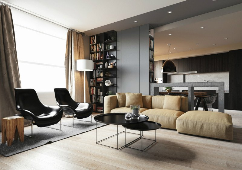 Comfortable Living Room Minimalist Minimalist Apartment with An Engaging Laid Back
