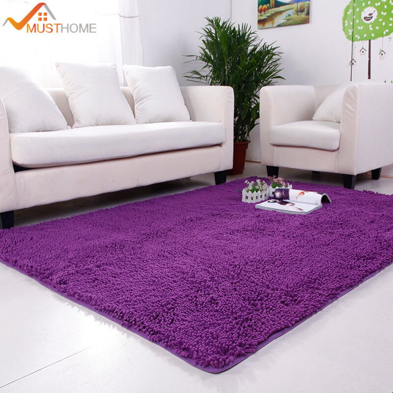 Comfortable Living Room Rugs 100 180cm Chenille Carpets for Living Room Home