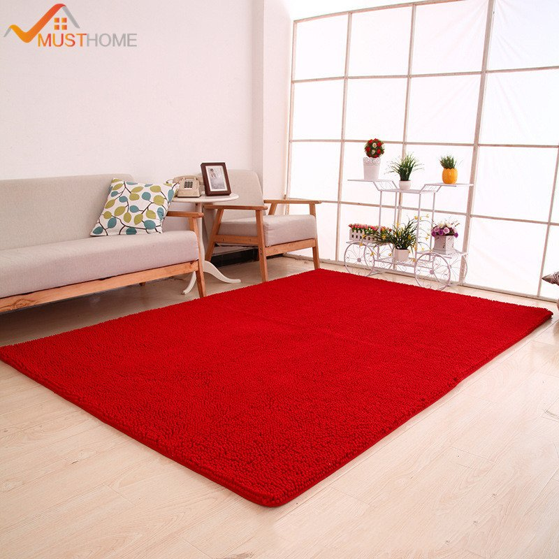 "Comfortable Living Room Rugs 70x180cm 28""x71"" Chenille Microfiber area Rug for Living"