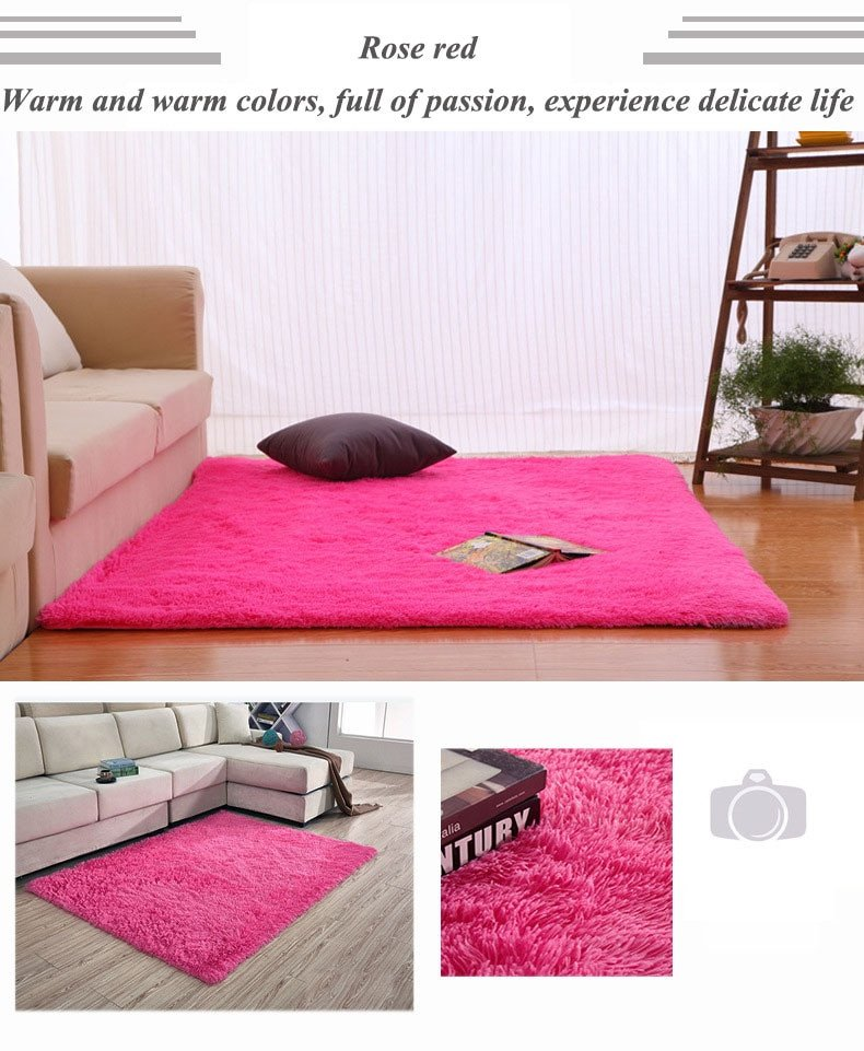 Comfortable Living Room Rugs Carpet Warm and Sweet Bedroom Carpet for Living Room