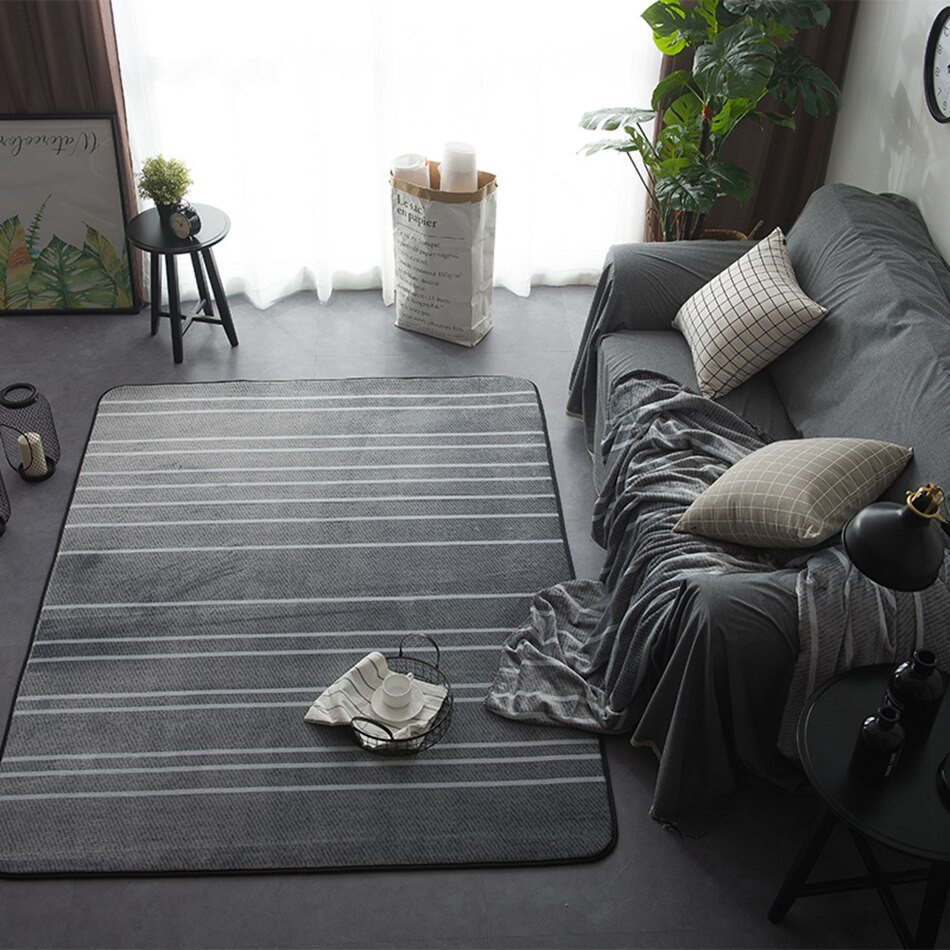 Comfortable Living Room Rugs Room Rug Striped Carpets for Living Room Modern Floor Mats
