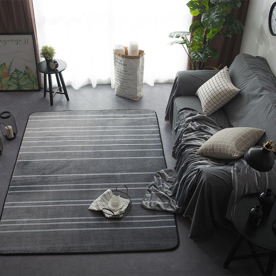 Comfortable Living Room Rugs Room Rug Striped Carpets for Living Room Modern Floor Mats