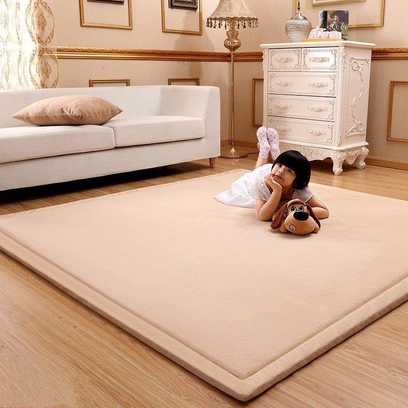 Comfortable Living Room Rugs Super fortable Tatami Fleece Coral Velvet Carpet for
