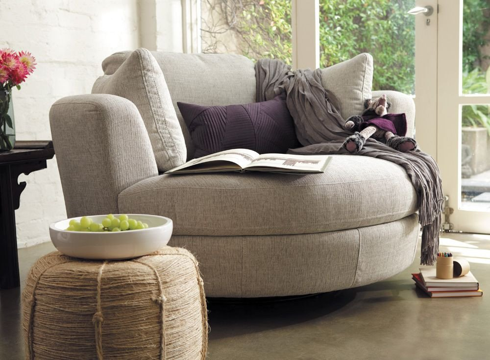 Comfortable Living Room Seating Snuggle Chair Dining Room Entry