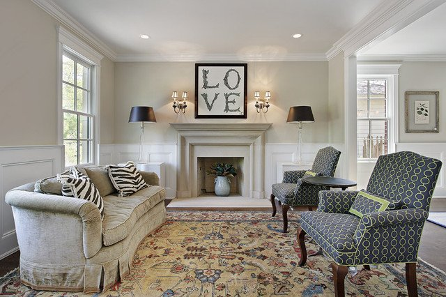 Comfortable Living Room Timeless Timeless Eclectic Living Room Chicago by Mandy