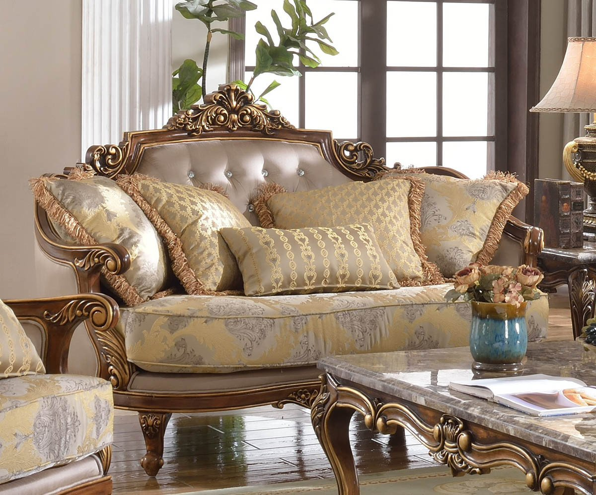 Comfortable Living Room Victorian Fontaine Traditional Living Room Set sofa Love Seat Chair