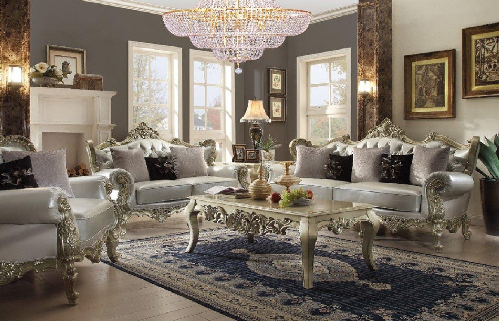 Comfortable Living Room Victorian Homey Design Upholstery Living Room Set Victorian