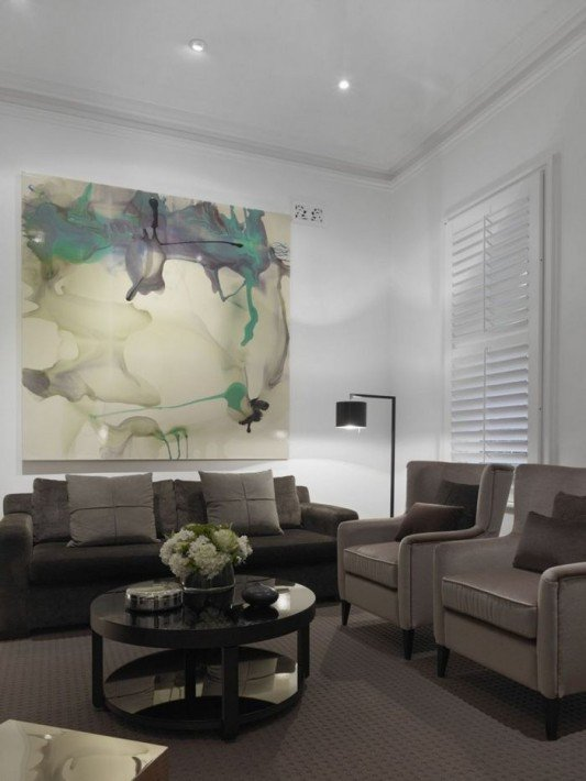 Comfortable Living Room Victorian Modern House Renovation with Classic Victorian Interior