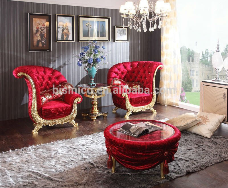 Comfortable Living Room Victorian Neo Classical Living Room Furniture Set Wing Chairs