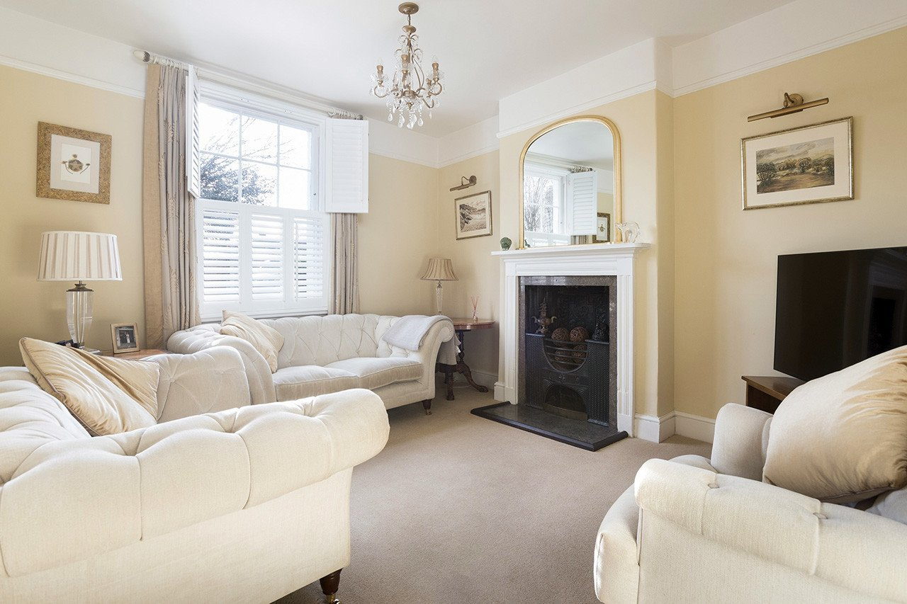 Comfortable Living Room Victorian Restoring A Victorian House