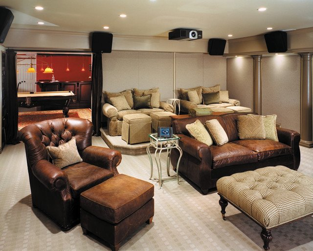 Comfortable Living Roomfor Movie Watching fortable Media Room