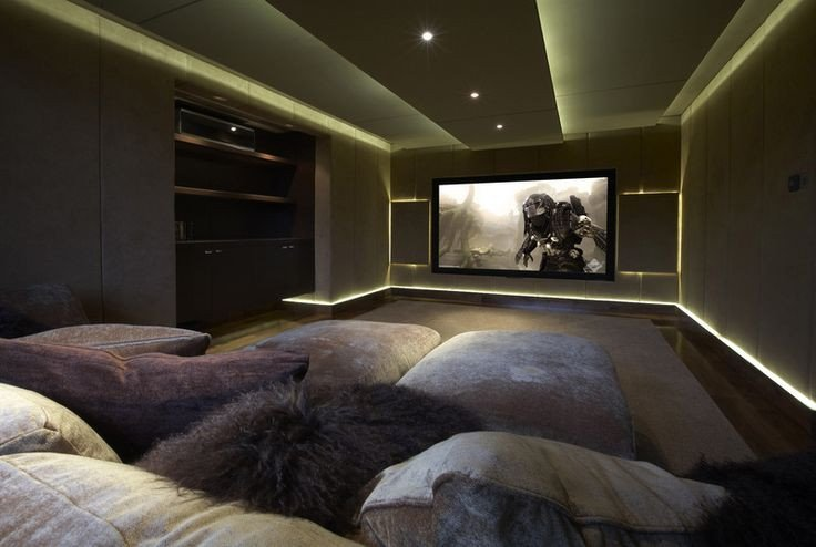 Comfortable Living Roomfor Movie Watching Would Definitely Have This as A Home theatre Room