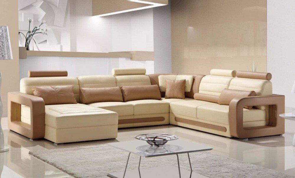 Comfortable Living Roomfurniture fortable Adjustable Genuine Leather Recliner sofa Set