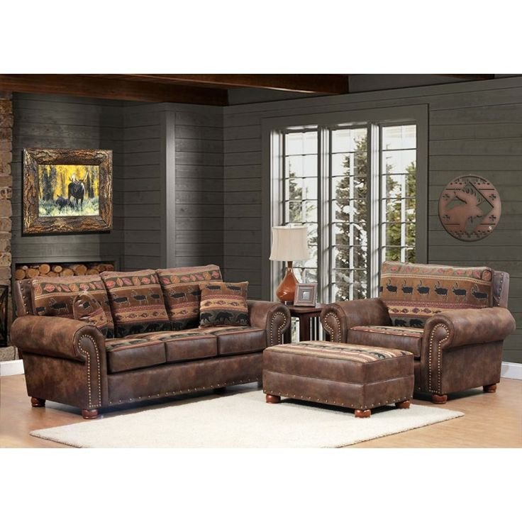 Comfortable Rustic Living Room 17 Best Images About Rustic Upholstered Furniture