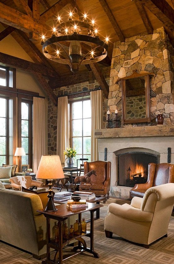 Comfortable Rustic Living Room Modern Rustic Décor for Classy and Warm Nuance at Your