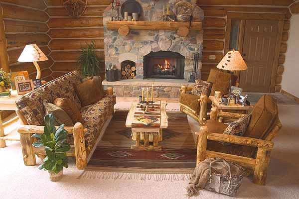 Comfortable Rustic Living Room Rustic Log Living Room Furniture Log Glider aspen Log