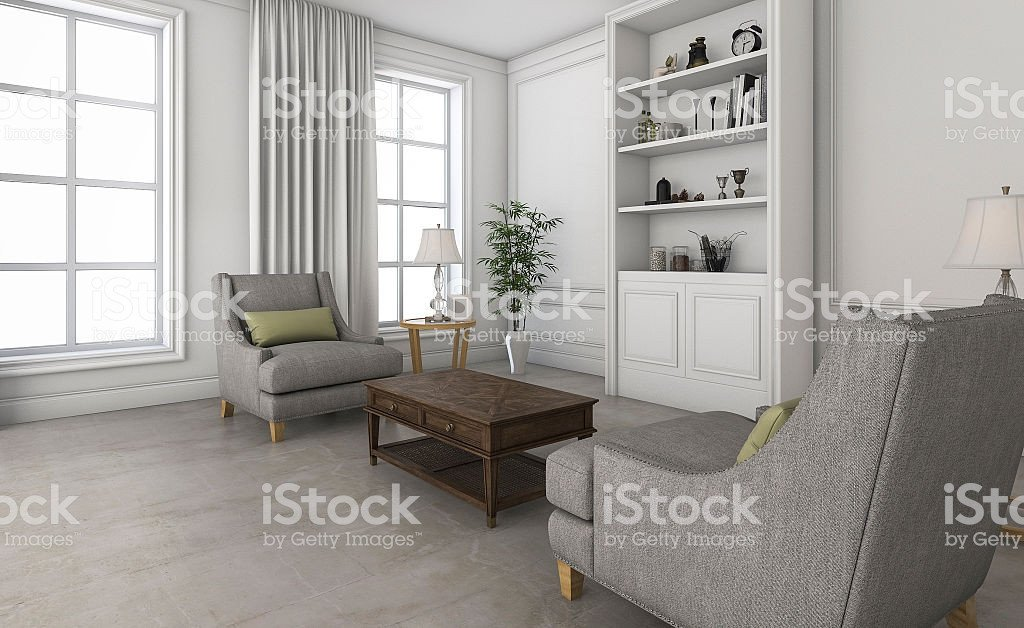 Comfortable Small Living Room 3d Rendering White Small Living Room with fortable