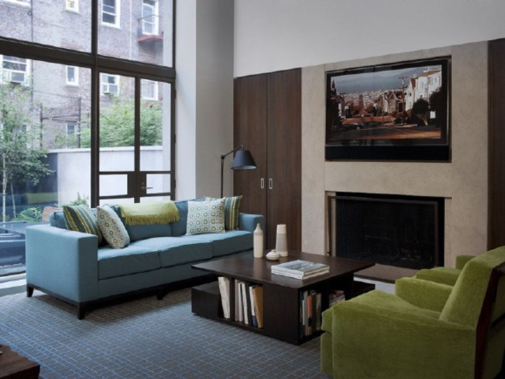 Comfortable Small Living Room Interior Decorating Ideas for Small Homes Blue