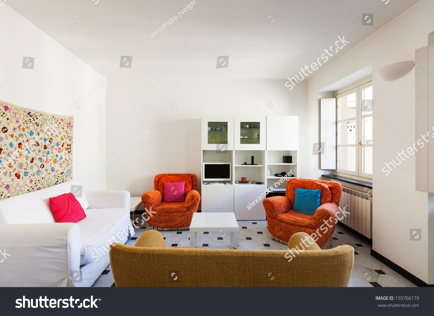 Comfortable Small Living Room Interior fortable Small Apartment Living Room Stock