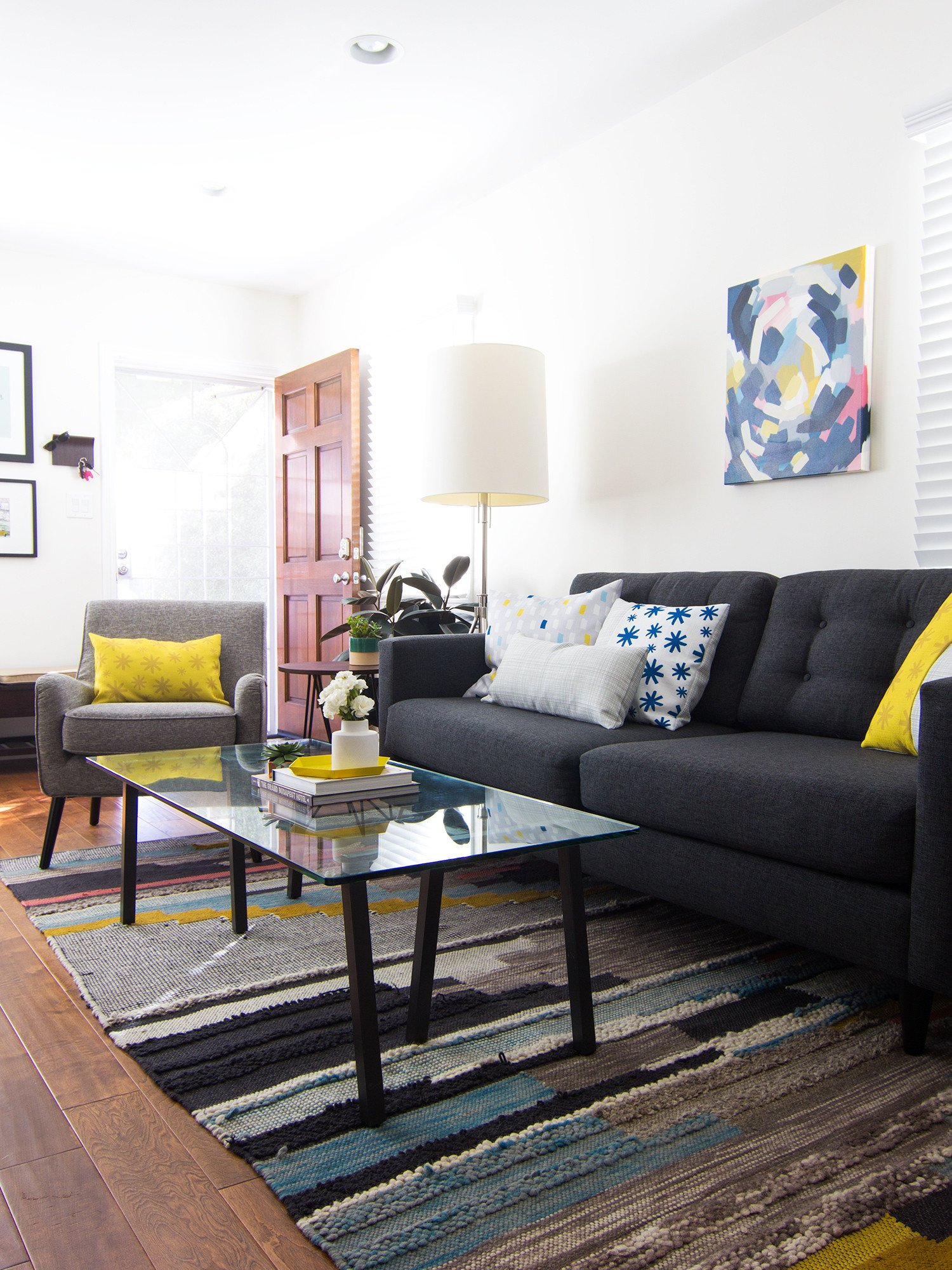 Comfortable Small Living Room Small and Narrow Living Room Sarah Hearts
