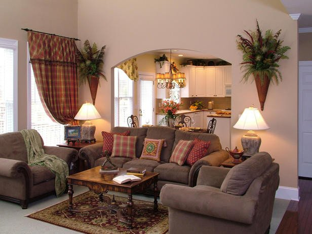 Comfortable Traditional Living Room Traditional Living Space S