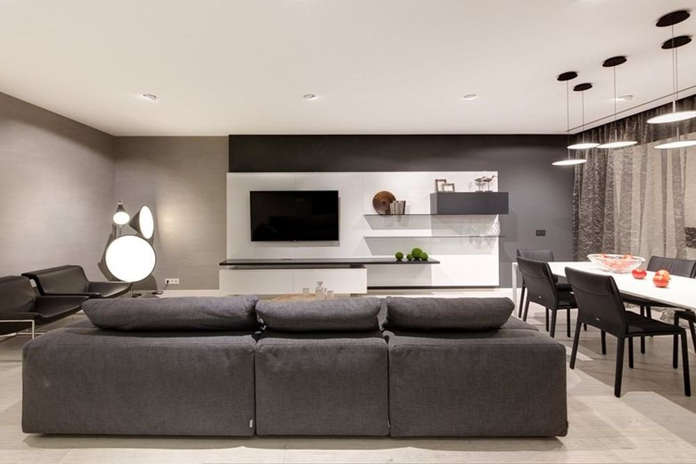 Contemporary Apartment Living Room Functionality and Aesthetics Reconciled In A Modern