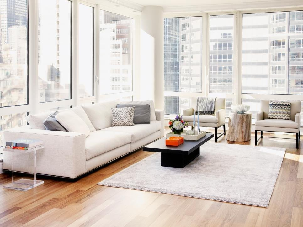 Contemporary Apartment Living Room Minimalist New York Apartment Tara Benet