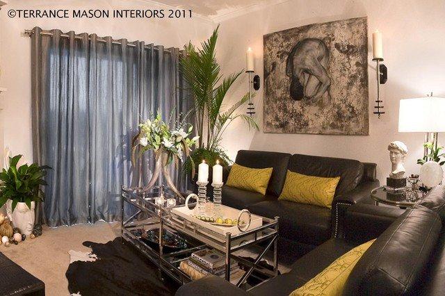 Contemporary Apartment Living Room Modern Glam Contemporary Living Room Portland by