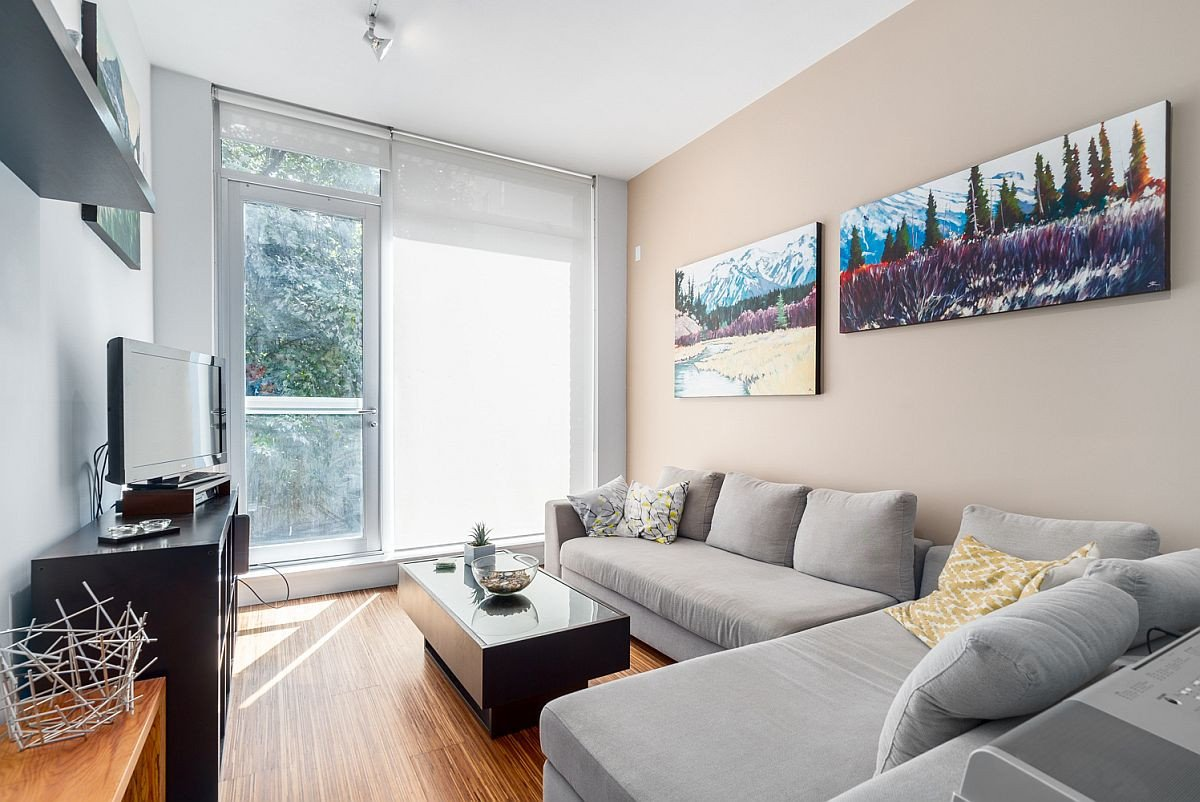 Contemporary Apartment Living Room Small Modern Apartment In Vancouver Maximizes Space and Style